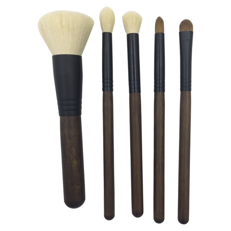 454013a8777 5pcs Red Wooden Makeup Brush Set-Clear ...